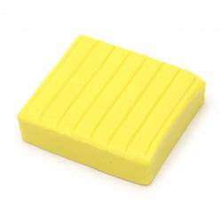 Полимерна глина жълта - 50 грама