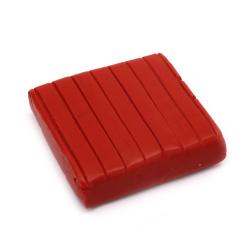 Полимерна глина червена тъмно - 50 грама