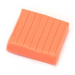 Argila  polimerică neon portocaliu deschis - 50 grame