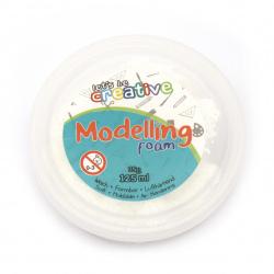 Самосъхнещ моделиращ гел със стиропор цвят бял дъга 125 мл -35 грама