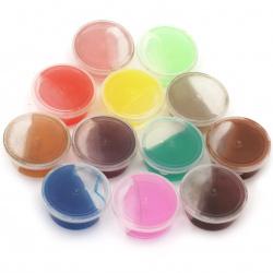 Самосъхнещо прозрачно желе цвят Асорте в кутия -12 цвята ~420 грама