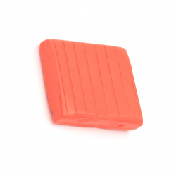 Полимерна глина оранжево червено -50 грама