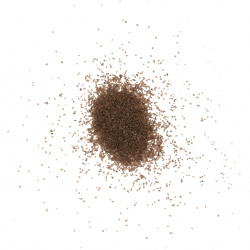 Glass sand for decoration 0.2 mm 200 microns brown ~ 410 grams