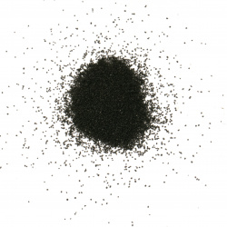 Glass sand for decoration 0.2 mm 200 microns color black ~ 410 grams