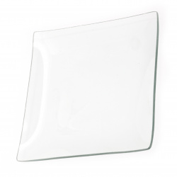 Glass plate base for decoupage and decoration square 19.5 cm