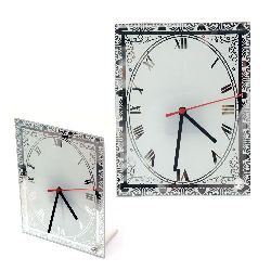 Glass Clock for Sublimation Printing  17.7x23 cm
