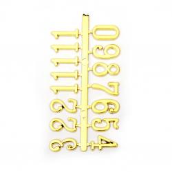 Σετ αυτοκόλλητοι αριθμοί για ρολόι 16 mm - χρυσό