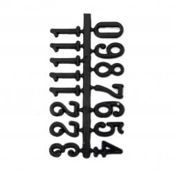 Σετ αυτοκόλλητοι αριθμοί για ρολόι 16 mm - μαύρο