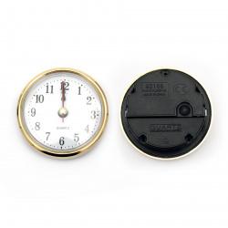 Часовник за вграждане 63x26 мм захранване ААА1.5 V (батерия) цвят злато