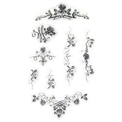 Ornamente cu trandafiri imprimate pe siliconica de 11x16 cm