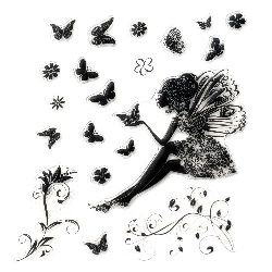 Clear Stamp 15x18 cm fairy