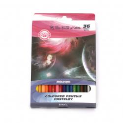Цветни моливи KOH-I-NOOR Звездна одисея -36 цвята
