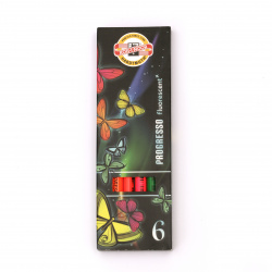 Комплект флуорeсцентни цветни моливи KOH-I-NOOR Progresio -6 цвята