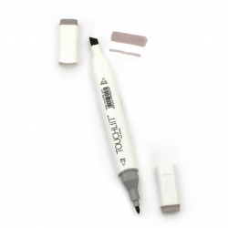 Double-headed color marker with alcohol ink for drawing and design WG3 - 1pc.