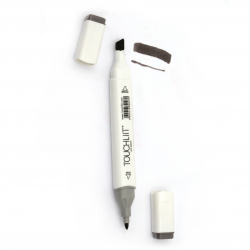 Double-headed color marker with alcohol ink for drawing and design WG6 - 1pc.