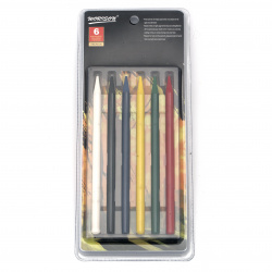 Set of color pencils without wood - 6 basic colors