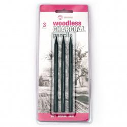 Charcoal pensils set - 3 pieces