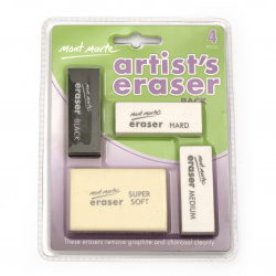 Set of professional erasers Mont Marte - 4 types