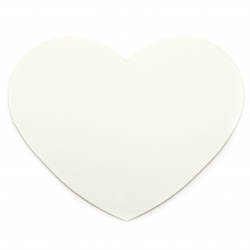 Каширана плоскост за рисуване сърце 16.8x14.8x0.27 см -8 броя