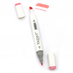 Double-headed color marker with alcohol ink for drawing and design 08 - 1pc.