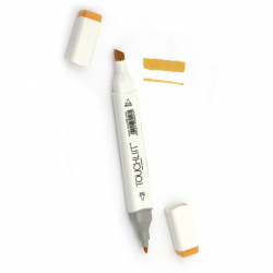 Double-headed color marker with alcohol ink for drawing and design 33 - 1pc.