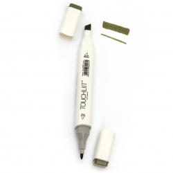 Double-headed color marker with alcohol ink for drawing and design 42 - 1pc.