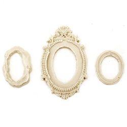 Element pentru decorarea cadrului decorativ oval de la 31x20 până la 65x39 mm -3 bucăți
