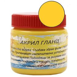 Acrylic Paint Glaze Yellow, 75 ml