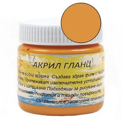 Acrylic Paint Glaze Orange, 75 ml