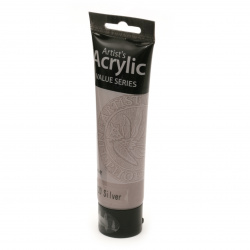 Acrylic Paint Phoenix, Silver Color, 100 ml