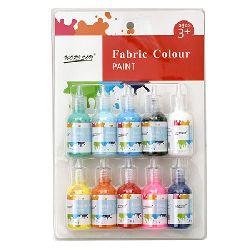 Комплект текстилни бои 10 цвята x 30 мл