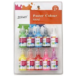 Set of poster paints 10 colors x 30 ml