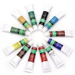Set of Acrylic Paints, 12 Colors x 12 ml