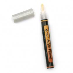 Акрилен водоустойчив маркер 2-3 мм цвят сребро -1 брой
