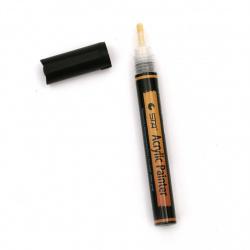Акрилен водоустойчив маркер 2-3 мм черен -1 брой