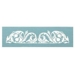 Șablon refolosibil LORCA textile 16,5x8,5 cm - motiv floral № 3