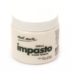 Supplement for Acrylic  impasto gel Mont Marte -500 ml.