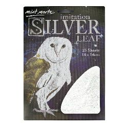 Decorative foil imitation Mont Marte silver 14x14 cm -25 sheets