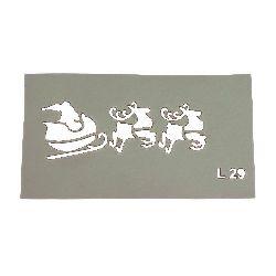 Șablon reutilizabil LORCA dimensiune de imprimare 7,5x3 cm L29