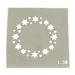 Шаблон за многократна употреба ЛОРКА размер на отпечатъка 6x6 см Л30