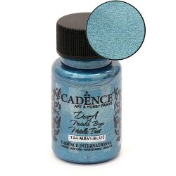Acrylic Paint Metallic Effect Blue , Cadence Dora 50 ml