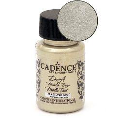Acrylic Paint Metallic Effect Silver Gold, Cadence Dora 50 ml