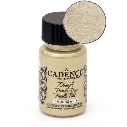 Acrylic Paint Metallic Effect CADENCE DORA 50 ml. - WHITE GOLD 148