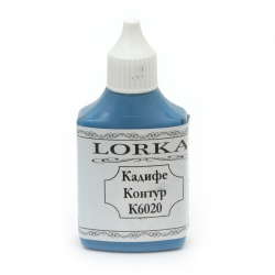Contour velvety effect paint 100 gr - blue K6020