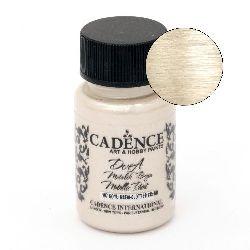 Acrylic Paint Metallic Effect ADENCE DORA 50 ml. - CLOTTED CREAM 197