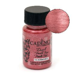 CADENCE DORA Ακρυλικό μεταλλικό χρώμα 50 ml. - ΚΟΚΚΙΝΟ 133