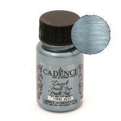 Vopsea acrilica metalica CADENCE DORA 50 ml. - TIDAL BLUE 181