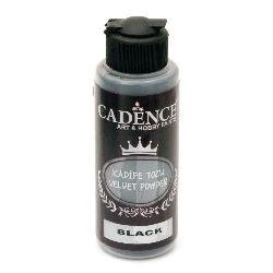 Pudra cu efect de catifea CADENCE 120 ml. - NEGRU