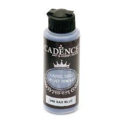 Pudra cu efect  de catifea CADENCE 120 ml. - SAX BLUE 349