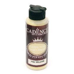 Pudra cu efect  de catifea CADENCE 120 ml. - GALBEN 108